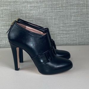 RED Valentino Black Bow Booties -6.5
